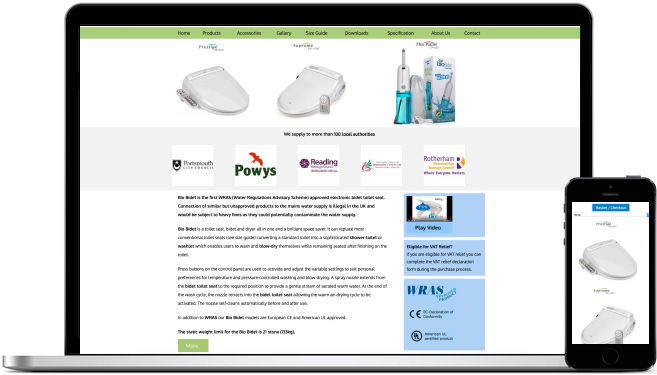 Responsive Web Design for Electronic Bidet Distributor