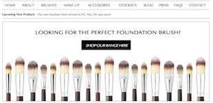 ECommerce Website for Cosmetics Supplier