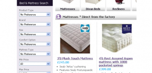 ECommerce Website for Bed Business