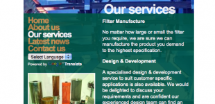 Website Development for Filter Business