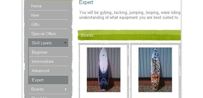 ECommerce Website for Windsurfing Equipment