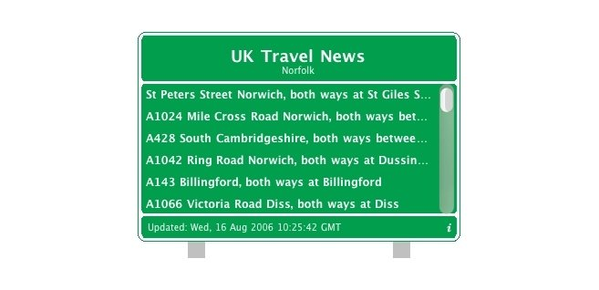 UK Travel News Widget