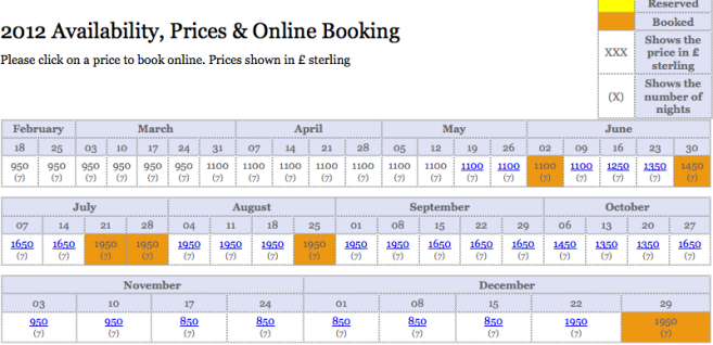 Holiday Cottage Bookings