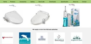 ECommerce Website for Electronic Bidet Distributor